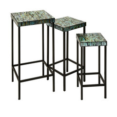 Buy IMAX Worldwide Aramis Mosaic Glass Tables (Set of 3) on sale online