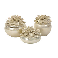 Buy IMAX Worldwide Blair Hand-Sculpted Floral Boxes (Set of 3) on sale online