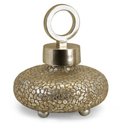 Buy IMAX Worldwide CK Round Myriad Lidded Vase on sale online