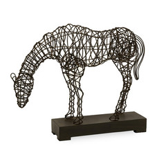 Buy IMAX Worldwide CKI Anatole Woven Horse Statue on sale online