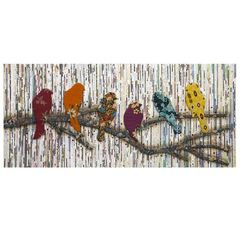 Buy IMAX Worldwide Camara Batik and Newspaper Bird Wall Decor in Multicolor on sale online