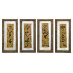 Buy IMAX Worldwide Cassander Double Glass Print Wall Art (Set of 4) on sale online