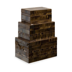Buy IMAX Worldwide Chai Mosaic Boxes (Set of 3) on sale online