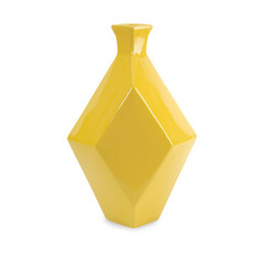 Buy IMAX Worldwide Chantal Large Yellow Ceramic Vase on sale online