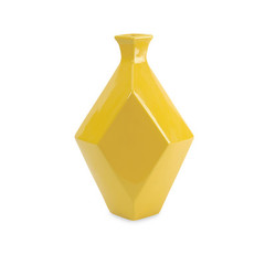 Buy IMAX Worldwide Chantal Medium Yellow Ceramic Vase on sale online