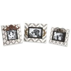 Buy IMAX Worldwide Chevron Photo Frames in Multicolor (Set of 3) on sale online