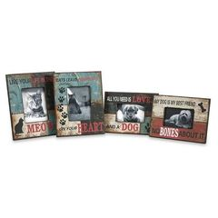 Buy IMAX Worldwide Dog and Cat Photo Frames in Multicolor (Set of 4) on sale online