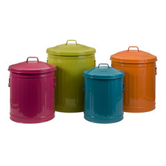 Buy IMAX Worldwide Edison Brights Storage Cans (Set of 4) on sale online