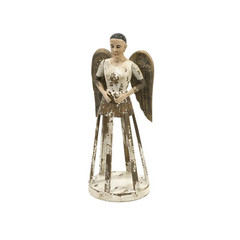 Buy IMAX Worldwide Emelda Small Handcarved Wood Angel Santos on sale online