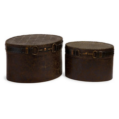Buy IMAX Worldwide Equestrian Boxes (Set of 2) on sale online