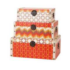 Buy IMAX Worldwide Essentails Energetic Modern Storage Boxes (Set of 3) on sale online