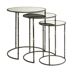 Buy IMAX Worldwide Flouressa Mirror Top Nesting Tables (Set of 3) on sale online