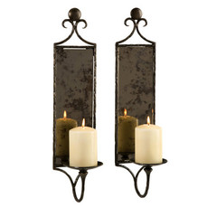Buy IMAX Worldwide Hammered Mirror Wall Sconce (Set of 2) on sale online