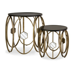 Buy IMAX Worldwide Hexicomb Accent Tables (Set of 2) on sale online