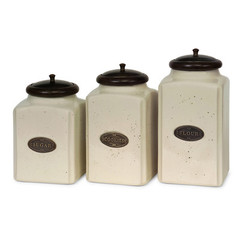 Buy IMAX Worldwide Ivory Canisters (Set of 3) on sale online