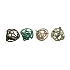 Buy IMAX Worldwide Large Glass Rope Knots (Set of 4) on sale online