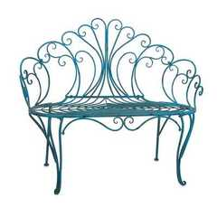Buy IMAX Worldwide Lillian Traditional 45x18 Garden Bench in Blue on sale online
