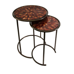 Buy IMAX Worldwide Mashaka Handcrafted Mosaic Glass Tables (Set of 2) on sale online