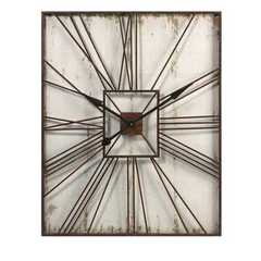 Buy IMAX Worldwide Montgomery 39x32 Rectangular Wall Clock in Cream and Brown on sale online