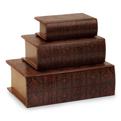 Buy IMAX Worldwide Nesting Wooden Book Boxes (Set of 3) on sale online
