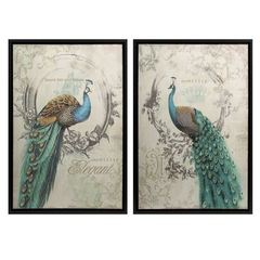 Buy IMAX Worldwide Panache Peacock Art in Multicolor (Set of 2) on sale online