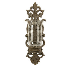 Buy IMAX Worldwide Pollianna Wall Sconce /w Glass Hurricane on sale online