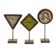 Buy IMAX Worldwide Tabletop Street Signs (Set of 3) on sale online