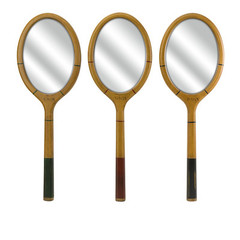 Buy IMAX Worldwide Wilkins Tennis Racquet Mirror (Set of 3) on sale online