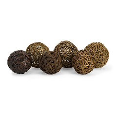 Buy IMAX Worldwide Worren Natural Wrapped Balls (Set of 6) on sale online