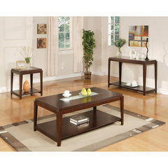 Buy Steve Silver Ice 3 Piece Occasional Table Set in Cherry on sale online