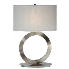 Buy Trend Lighting Infinity Coarse Ivory Shade 26.5 Inch Table Lamp on sale online