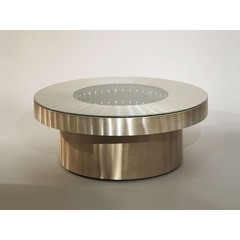 Buy NOVA Lighting Infinity Tunnel 42 Inch Round Cocktail Table w/ Light on sale online
