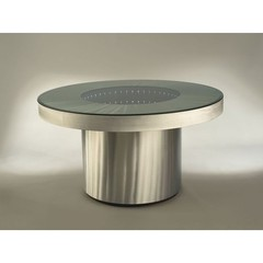 Buy NOVA Lighting Infinity Tunnel 54 Inch Round Dining Table w/ Light on sale online