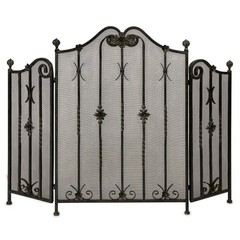 Buy IMAX Worldwide Iron Fireplace Screen on sale online