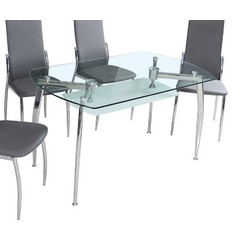 Buy J&M Furniture B11 51x31 Rectangular Dining Table w/ Glass Top on sale online