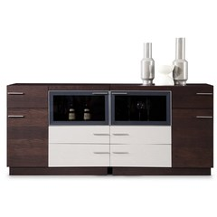 Buy J&M Furniture B512 Buffet in Brown Oak and Light Grey on sale online