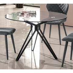 Buy J&M Furniture Solano 47x47 Round Dining Table in Black on sale online