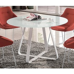 Buy J&M Furniture Vera 47x47 Round Dining Table in White on sale online