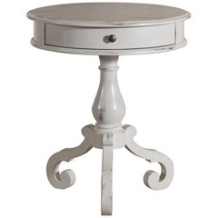 Buy Cooper Classics Jaden Round Accent Table in Distressed Black on sale online