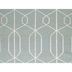Buy Jaipur Rugs Flat Weave Geometric Pattern Blue Wool Handmade Rug - MR16 on sale online