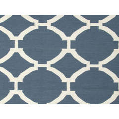 Buy Jaipur Rugs Flat Weave Geometric Pattern Blue Wool Handmade Rug - MR19 on sale online