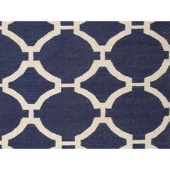 Buy Jaipur Rugs Flat Weave Geometric Pattern Blue Wool Handmade Rug - MR44 on sale online