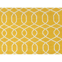 Buy Jaipur Rugs Flat Weave Geometric Pattern Gold and Yellow Wool Handmade Area Rug - UB13 on sale online
