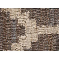 Buy Jaipur Rugs Flat Weave Moroccan Pattern Beige and Brown Hemp and Jute Handmade Rug - FZ02 on sale online