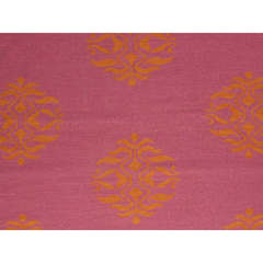 Buy Jaipur Rugs Flat Weave Moroccan Pattern Pink and Purple Wool Handmade Rug - MR15 on sale online