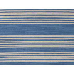 Buy Jaipur Rugs Flat Weave Stripe Pattern Blue Wool Handmade Rug - PV01 on sale online