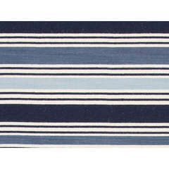 Buy Jaipur Rugs Flat Weave Stripe Pattern Blue Wool Handmade Runner Rug - PV31 on sale online