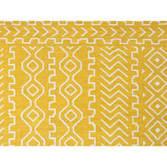 Buy Jaipur Rugs Flat Weave Tribal Pattern Gold and Yellow Wool Handmade Rug - UB19 on sale online