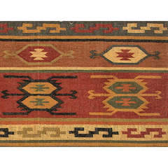 Buy Jaipur Rugs Flat Weave Tribal Pattern Multi Color Hemp and Jute Handmade Rug - BD01 on sale online
