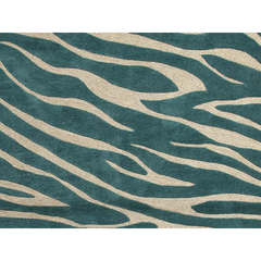 Buy Jaipur Rugs Modern Animal Print Pattern Blue Polyester Tufted Rug - BR27 on sale online